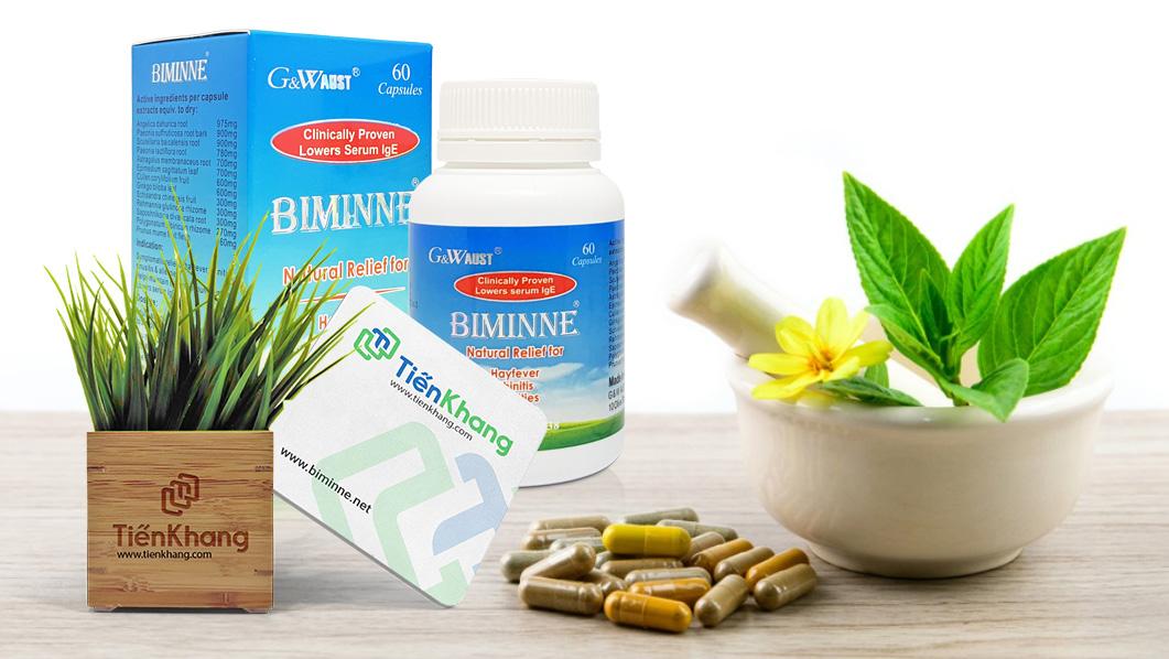 Biminne – Hỗ trợ viêm mũi dị ứng, viêm xoang