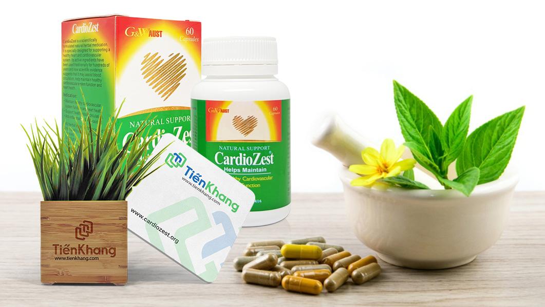 CadioZest - Phòng ngừa xơ vữa động mạch - Điều hòa huyết áp - Tốt cho tim mạch