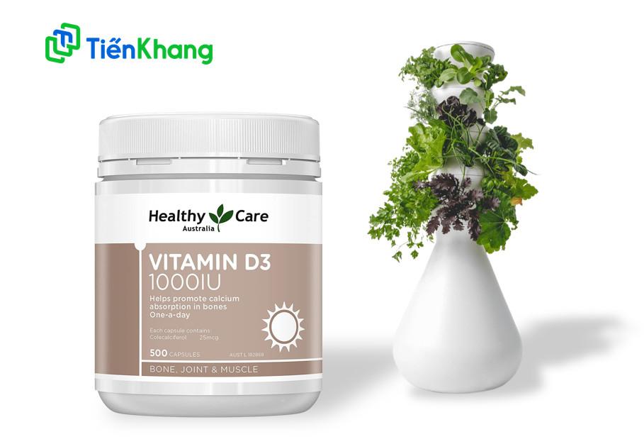 Viên Uống Chống Loãng Xương Healthy Care Vitamin D3 - Hộp 500 Viên